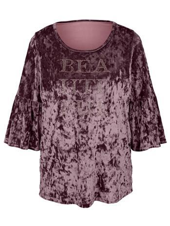 Sametinpehmeä paita MIAMODA roosa74175/70X, Naisten paidat, puserot, topit, neuleet ja jakut