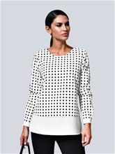 Kerrostyylinen pusero Alba Moda valkoinen/musta73721/90X, Naisten paidat, puserot, topit, neuleet ja jakut
