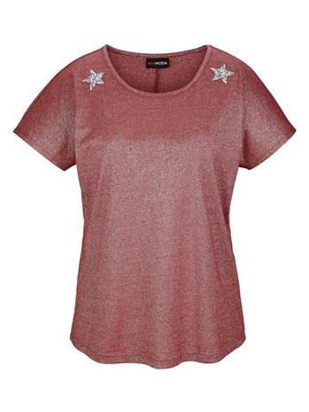 Lyhythihainen paita MIAMODA bordeaux/hopeanvärinen71902/70X, Naisten paidat, puserot, topit, neuleet ja jakut