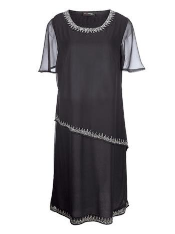 Helmisomisteinen mekko MIAMODA Musta52601/80X