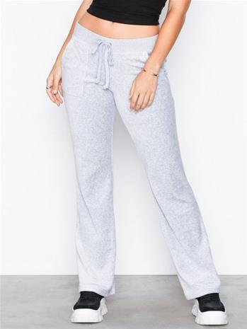 Juicy Couture Velour Del Rey Pant Housut White