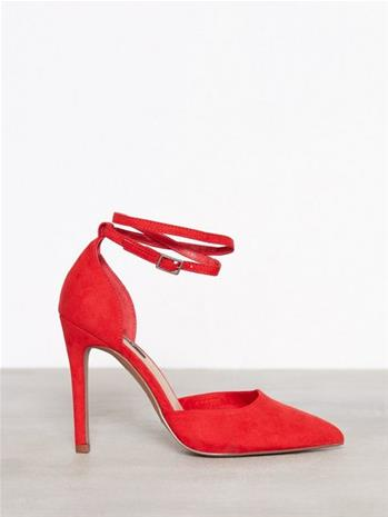 Only onlCHLOE Strap Pump Pumps Tummanpunainen