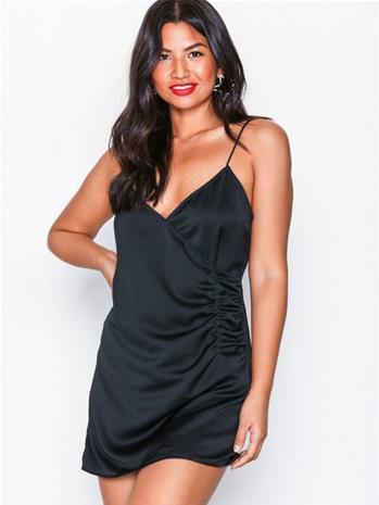 Motel Bartier Satin Dress Kotelomekot Black