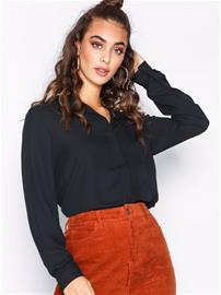 Selected Femme Slfdynella Ls Shirt Noos Arkipaidat Musta