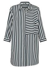 Raidallinen paitapusero MIAMODA musta/valkoinen83331/50X