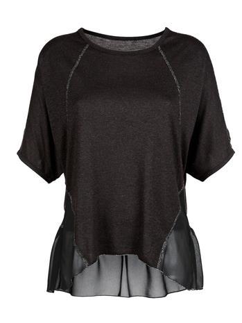 Lepakkohihainen paita AMY VERMONT musta/hopeanvärinen81570/00X