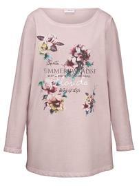 Kukka- ja tekstikuvioitu svetari MIAMODA roosa88166/00X