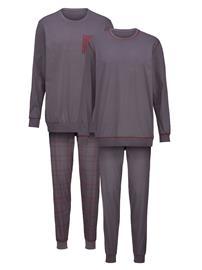 Pyjama Gregory 2x harmaa/punainen90831/50X