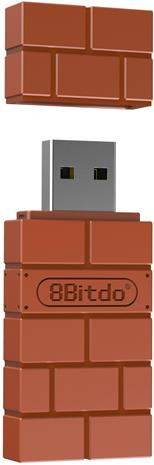 8bitdo USB Wireless Adapter, PC/NintendoSwitch -ohjainadapteri