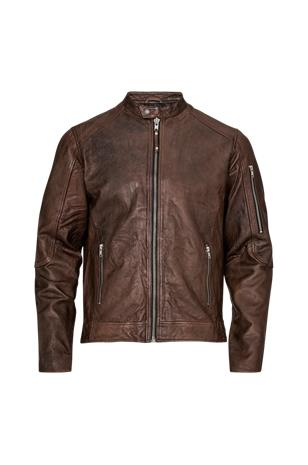 "jack & jones"" ""JprRichard Clean Leather Jacket -nahkatakki"