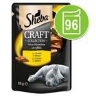Sheba Craft Collection -säästöpakkaus 96 x 85 g - siipikarjalajitelma