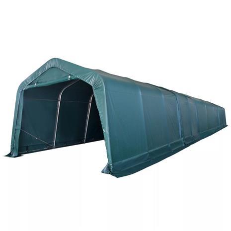 vidaXL Kannettava karjateltta PVC 3,3x16 m Tummanvihreä (43750+43751)