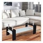 [en.casa]® Moderni sohvapöytä - Olohuone - lasipöytä - 100 x 50 x 58 cm - musta