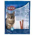 Trixie Kissanruoka 4 x 5 g Premio Quadro-Sticks -tikut, lohi-taimen,