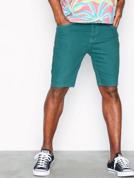 Topman Green Denim Stretch Skinny Shorts Shortsit Green b89a80d72a