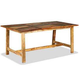 vidaXL Ruokapöytä Täysi Uusiokäytetty Puu 180 cm