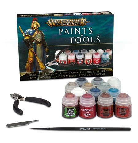 Warhammer Age of Sigmar: Paint & Tools Set WH