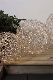 Star Trassel LED -pallo, 37,5 cm
