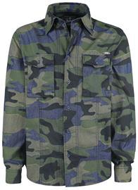 Brandit Curt Denim Shirt Slim Fit Kauluspaita maastokuvio b430508e36