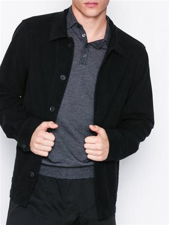 Oscar Jacobson Hannes reg shirt Takit Black