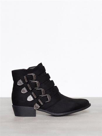 Duffy Buckle Ankle Boots Boots Musta