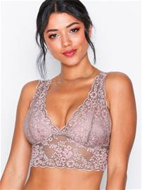 Lindex Lace Bralette Bandeau & Soft-Bra Dusty Pink