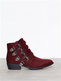 Duffy Buckle Ankle Boots Boots Bordeaux