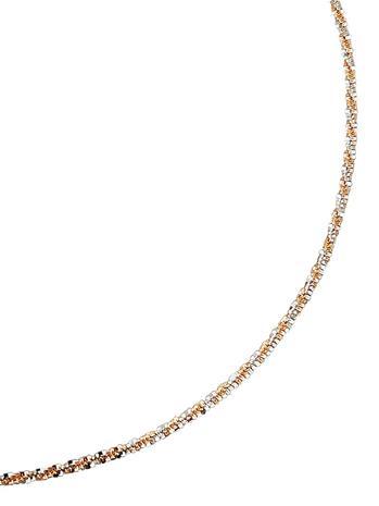 Kultainen kaulaketju roseekullanvärinen/valkoinen72569/30X