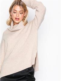 Filippa K Chunky Roller Neck Sweater Poolopuserot Sandstone