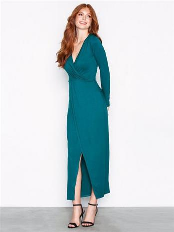 NLY Trend Long Sleeve Wrap Dress Pitkähihaiset mekot Teal