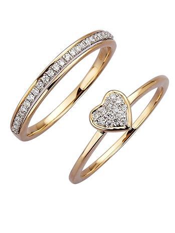 Kaksi timanttisormusta Diemer Diamant keltainen/valkoinen77715/70X
