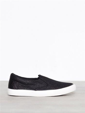 New Look Glitter Slip On Trainers Low Top Black