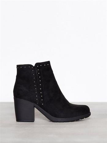 Duffy Studded Heel Boot Heel Musta