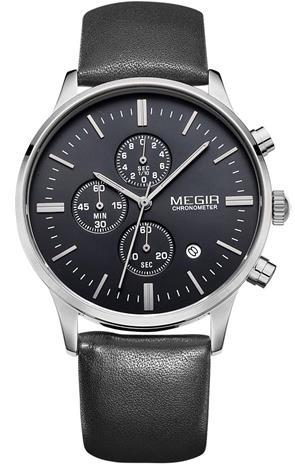 Megir Chronograph ML2011GBK-1