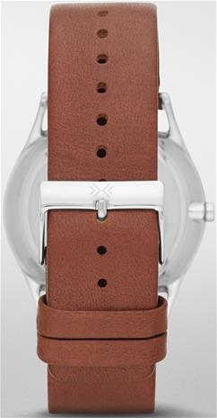 Brown leather strap for Skagen Holst SKW6086