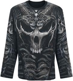 Spiral Skull Armour Pitkähihainen paita musta