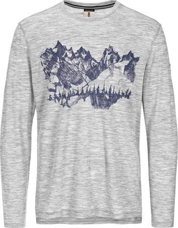 super.natural Graphic LS 140 Miehet Pitkähihainen paita , harmaa