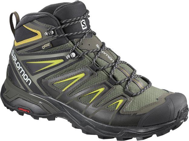 Salomon X Ultra 3 GTX Miehet kengät , harmaa/vihreä