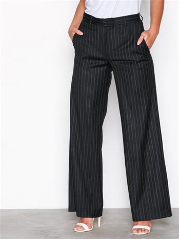 J Lindeberg Kori Wool Pin Housut Black Stripe