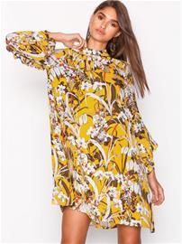 Replay W9504A Dress Pitkähihaiset mekot Keltainen