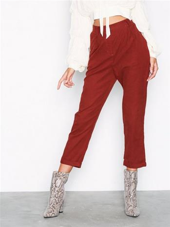 Glamorous Corded Straight Pants Housut Red