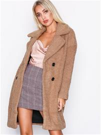 Only onlPALOMA Boucle Long Wool Coat Otw Jakut Vaaleanruskea