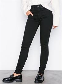 Selected Femme Slfmaggie Hw Skinny Black Jeans W N Skinny Musta