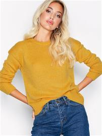 New Look Curved Hem Jumper Puserot Yellow
