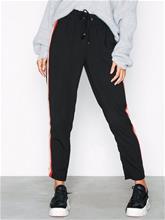 New Look Side Stripe Shirred Waist Trousers Housut Black