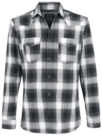 Produkt Taka Check Shirt Kauluspaita musta-valkoinen