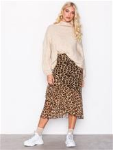 NLY Trend Leo Mesh Skirt Midihameet Leopard