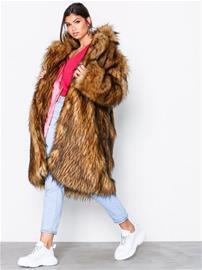 Svea Marble fur jacket Tekoturkit Offwhite