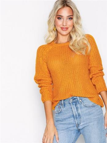Only onlANE L/S O-Neck Pullover Knt Noos Neuleet Oranssi