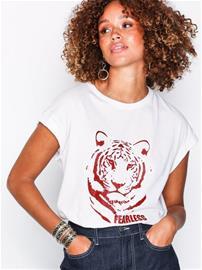Vila Vimeyrem S/S T-Shirt T-Paidat Valkoinen